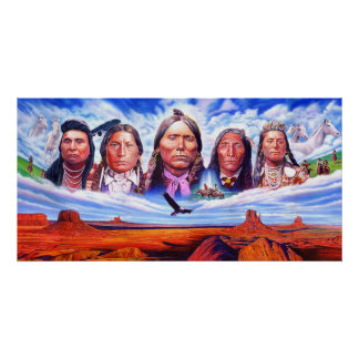 native american indian chiefs poster