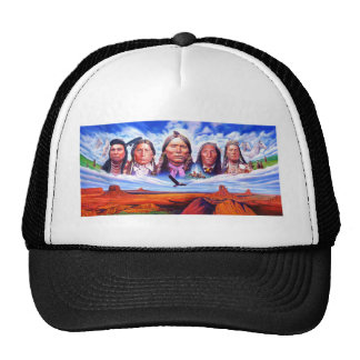 native american indian chiefs trucker hat