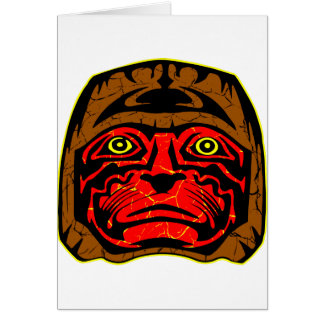 Native American Indian Dance Mask Greeting Card