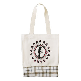 Native American Indian Dance Zazzle HEART Tote Bag