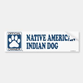Native American Indian Dog Blue Bumper Sticker
