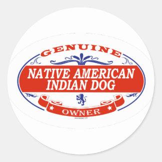 Native American Indian Dog  Classic Round Sticker