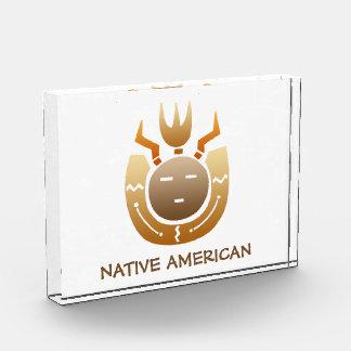 Native American Indian Face Acrylic Award