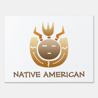 Native American Indian Face Sign
