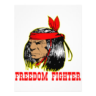 """Native American Indian Freedom Fighter 8.5"""" X 11"""" Flyer"""