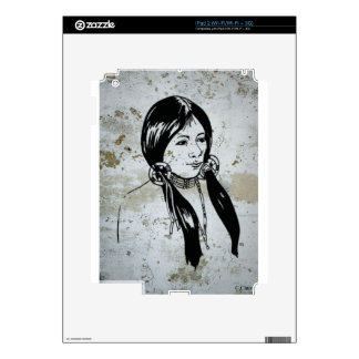 Native American Indian Girl iPad 2 Skins