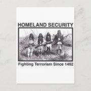 Native American Indian Homeland Security postcard