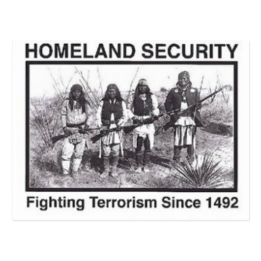 Native American Indian Homeland Security Postcards