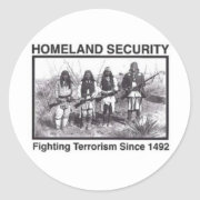 Native American Indian Homeland Security sticker