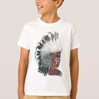 Native American Indian in Headdress T-Shirt
