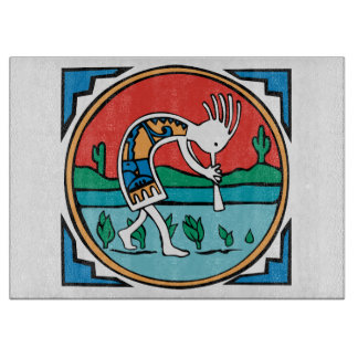 Native American Indian Kokopelli Cutting Board