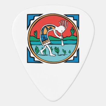 Native American Indian Kokopelli Guitar Pick by nativeamericangifts at Zazzle