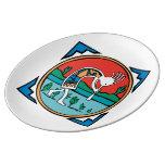 Native American Indian Kokopelli Porcelain Plates