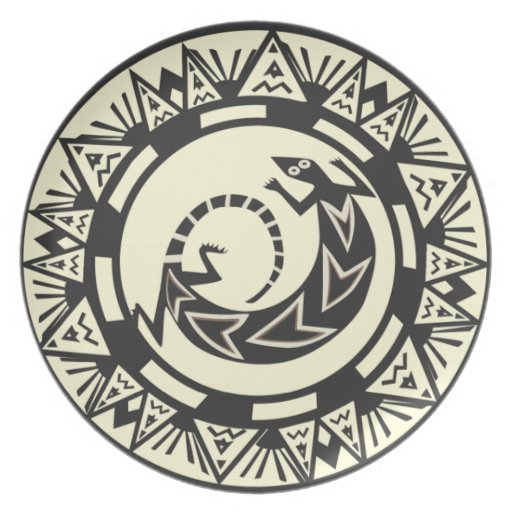 Native American Indian Lizard Design  Plate