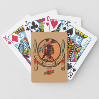 Native American Indian Logo Design Tribal Historic Bicycle Playing Cards