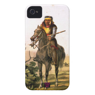 Native American Indian on Horse Back iPhone 4 Cover