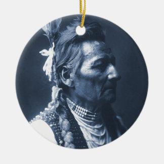 Native American Indian Pio Pio-Maksmaks Ceramic Ornament