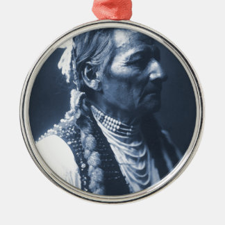 Native American Indian Pio Pio-Maksmaks Metal Ornament