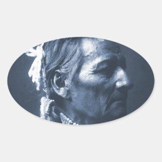 Native American Indian Pio Pio-Maksmaks Oval Sticker