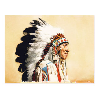 Native American Indian Postcard