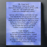 """Native American Indian Prayer Plaque<br><div class=""""desc"""">Oh, Great Spirit Whose voice I hear in the winds, And whose breath gives life to all the world, hear me, I am small and weak, I need your strength and wisdom. Let me walk in beauty and make my eyes ever behold the red and purple sunset. Make my hands...</div>"""