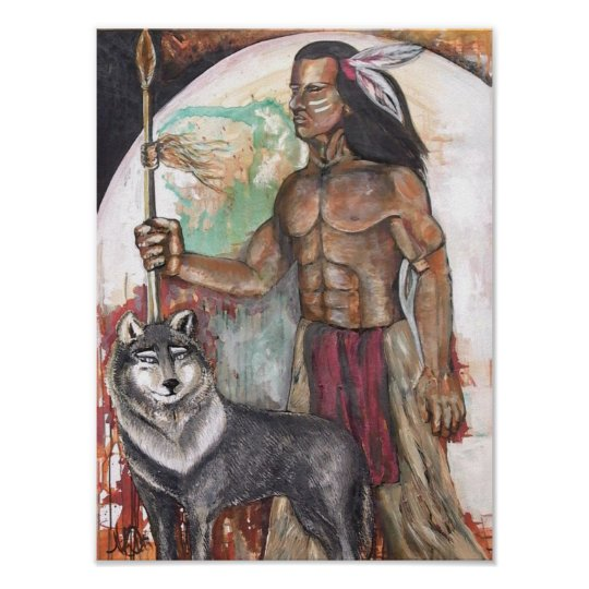 Native American Indian Print by Nicole Whitty Art