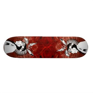 Native American Indian Profile Skateboard