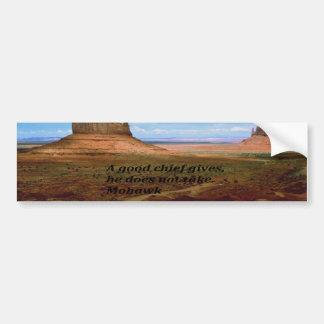Native American Indian Proverb Bumper Sticker