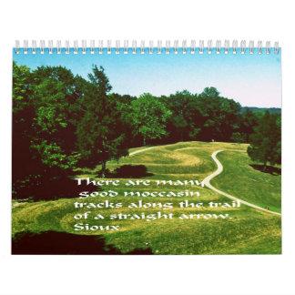 native American Indian Proverbs Calendar