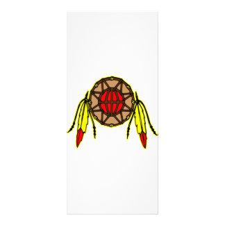 Native American Indian Rack Card