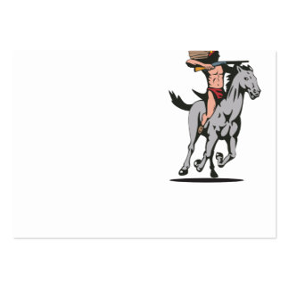 Native American Indian Riding Horse Large Business Cards (Pack Of 100)