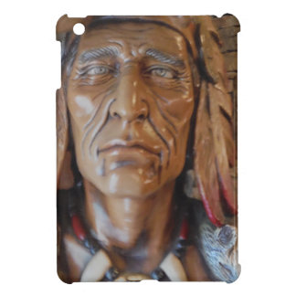 Native American Indian sculpture with fox feathers iPad Mini Covers