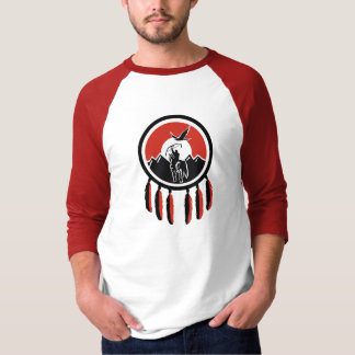 Native American Indian Shield 3/4 Sleeve Raglan T T-Shirt