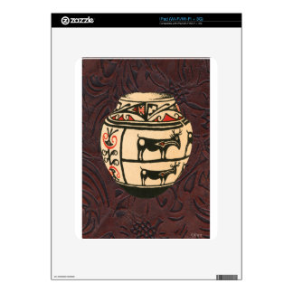 Native American Indian Southwest Antelope Pottery Skins For iPad