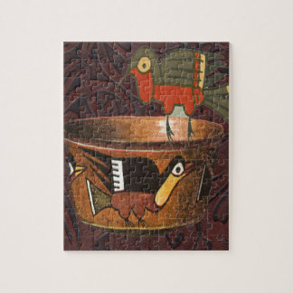 Native American Indian Southwest Bird Pottery Jigsaw Puzzle