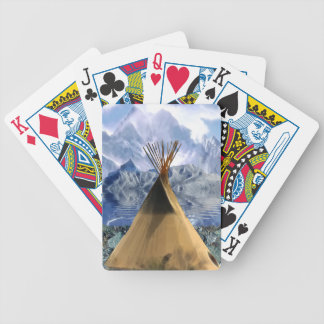 Native American Indian Tee-Pee Tipi Bicycle Playing Cards