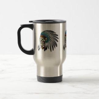 Native American Indian Tribal Gothic Skull 15 Oz Stainless Steel Travel Mug