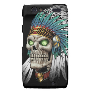 Native American Indian Tribal Gothic Skull Motorola Droid RAZR Case