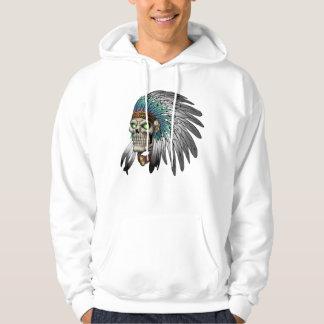 Native American Indian Tribal Gothic Skull Hoody