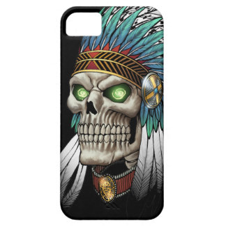 Native American Indian Tribal Gothic Skull iPhone SE/5/5s Case