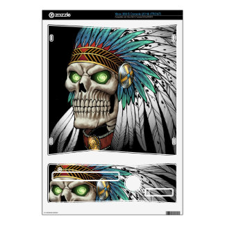 Native American Indian Tribal Gothic Skull Skin For Xbox 360 S