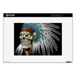 Native American Indian Tribal Gothic Skull Skins For Large Netbooks