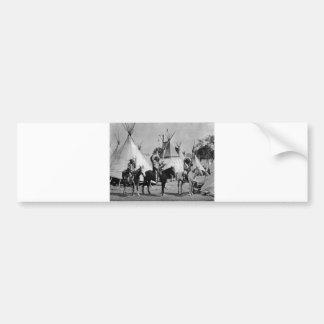 Native American Indian Vintage Portrait Bumper Sticker
