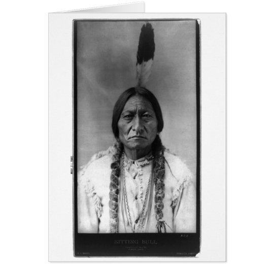 Native American Indian Vintage Portrait Card