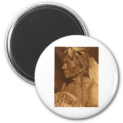 Native American Indian Vintage Portrait Fridge Magnet