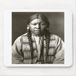 Native American Indian Vintage Portrait Mousepads