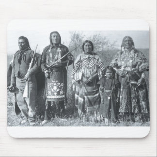 Native American Indian Vintage Portrait Mouse Pad