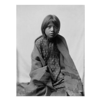 Native American Indian Vintage Portrait Poster
