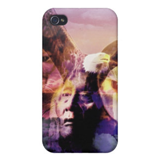 Native American Indian Warrior iPhone 4 Case