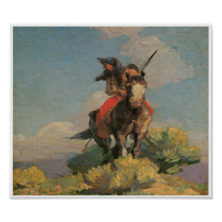 Native American Indian Wild Crow 1896 Art Poster